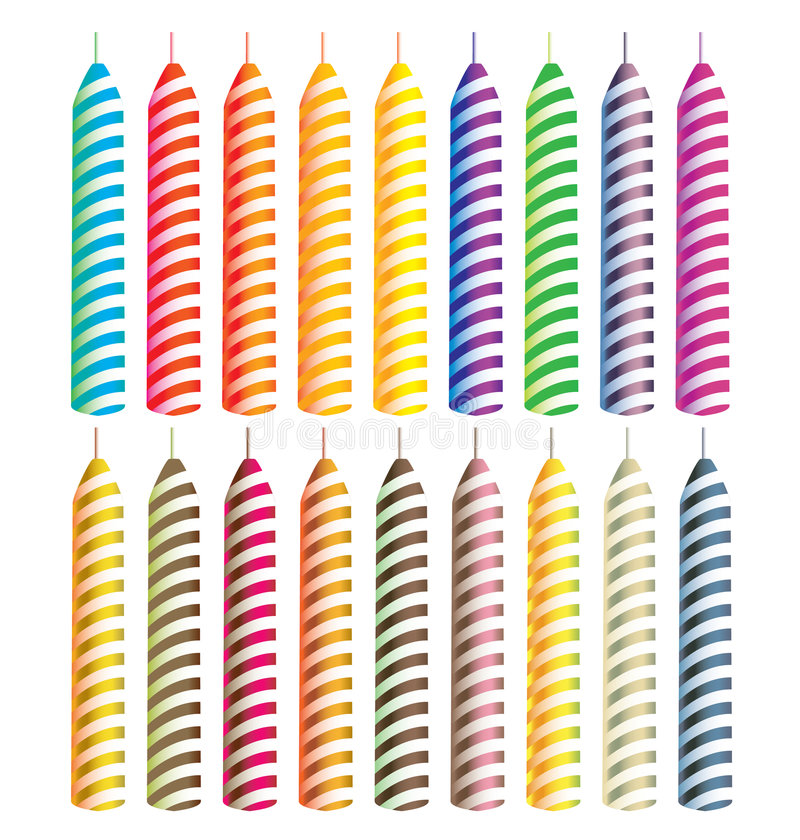 Striped candles royalty free illustration