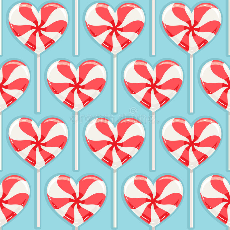 Striped candy hearts stock illustration