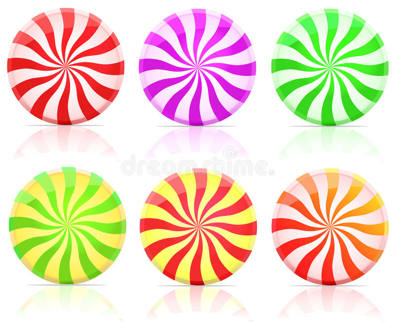 Striped candy. lollipop royalty free illustration