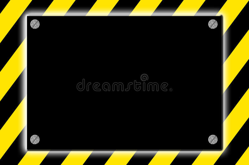 Striped caution hazard sign stock illustration