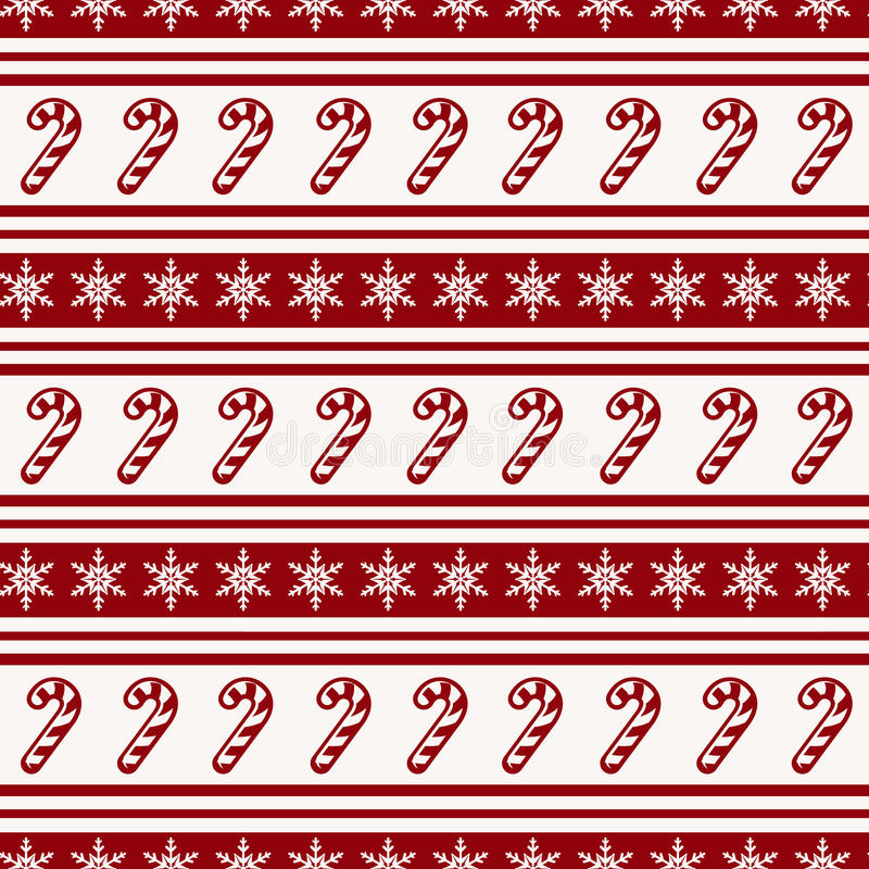 Striped christmas pattern with candy cane. Vector seamless background. royalty free illustration