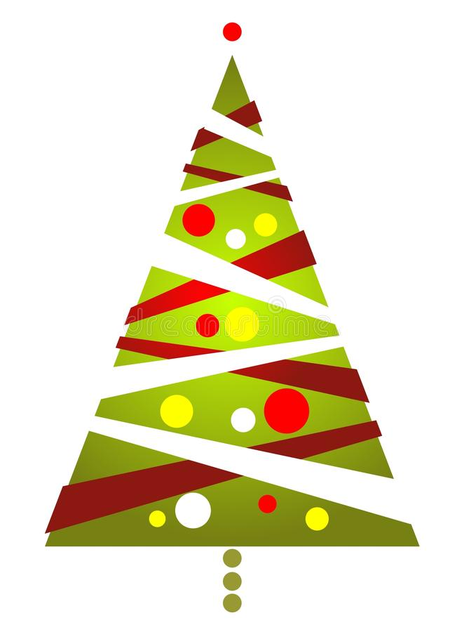Download Striped christmas tree stock vector. Image of white, graphics - 27094312