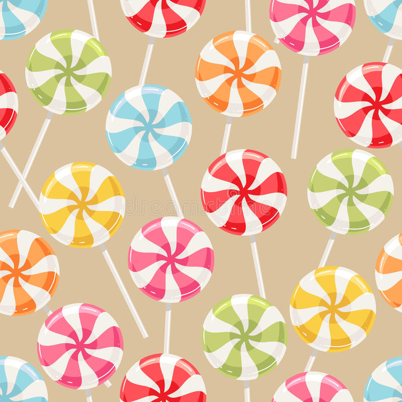 Striped color candy stock illustration