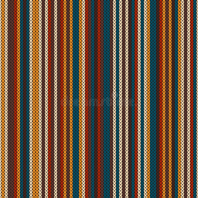 Striped Colourful Knitting Pattern. Seamless Background Stock Vector ...