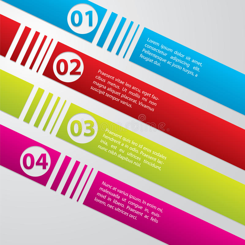 Download Striped Commercial Label Set Stock Vector - Image: 24693192