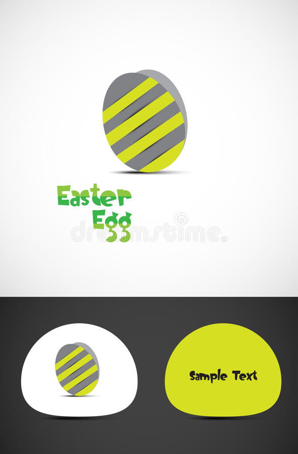 Download Striped easter egg stock vector. Image of easter, clipart - 25742416