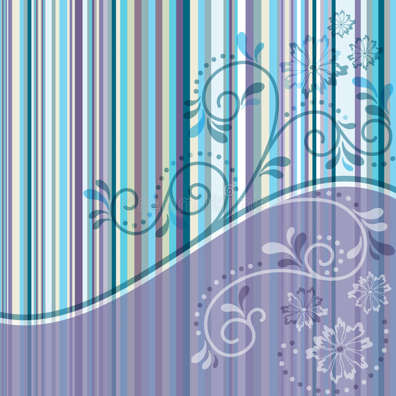 Download Striped frame with curls stock vector. Image of texture - 23474114