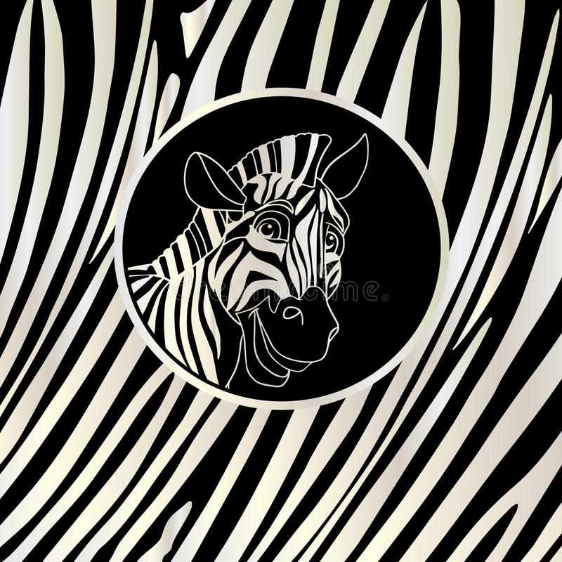 Zebra PRINT FRAME stock illustration