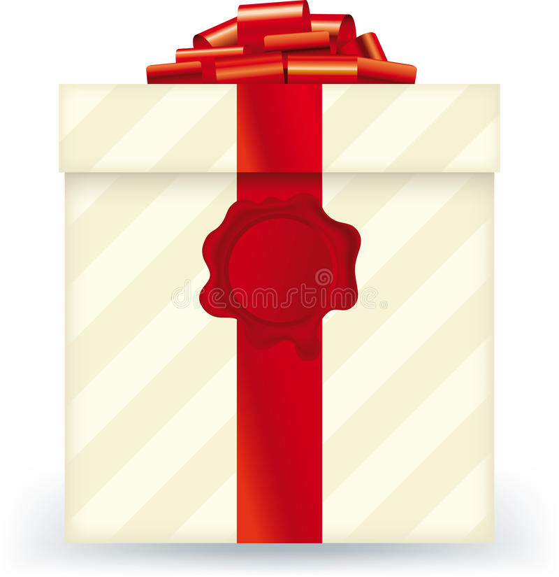 Download Striped Gift Box Stock Photo - Image: 27145100