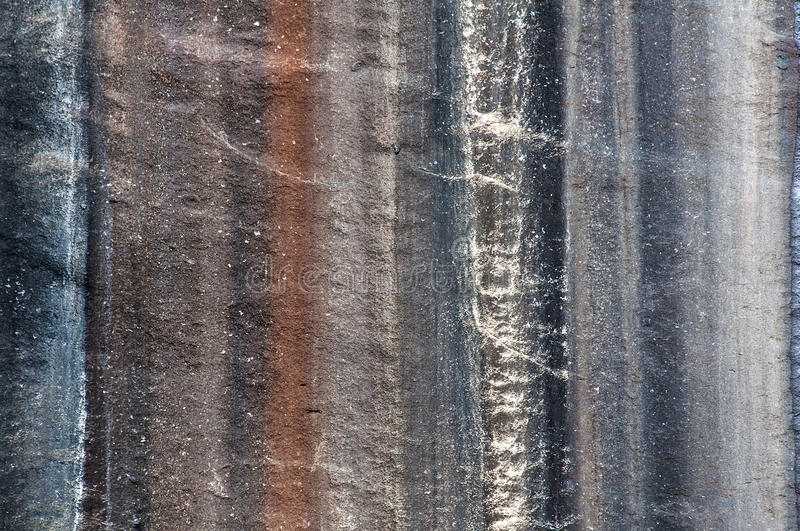 Striped granitic rock royalty free stock photo