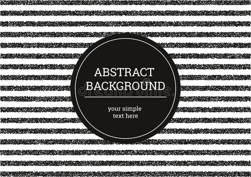 Striped grunge background. Black and white minimalistic modern background of small dots. Abstract vector template for your design royalty free illustration