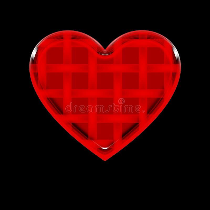 Download Striped Heart stock illustration. Image of brokenheart - 21342152