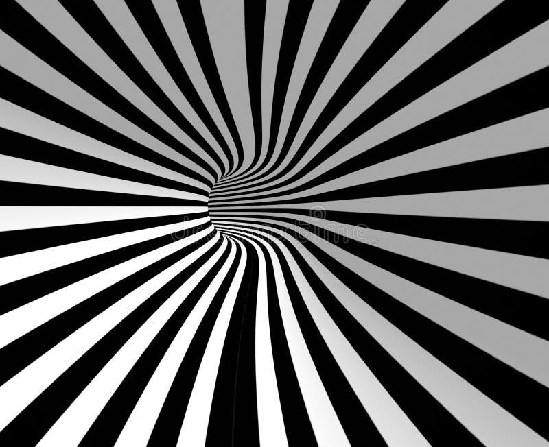 Striped hole stock illustration