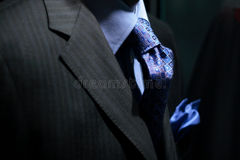 Download Striped Jacket With Blue Shirt, Tie & Handkerchief Royalty Free Stock Photo - Image: 1578385