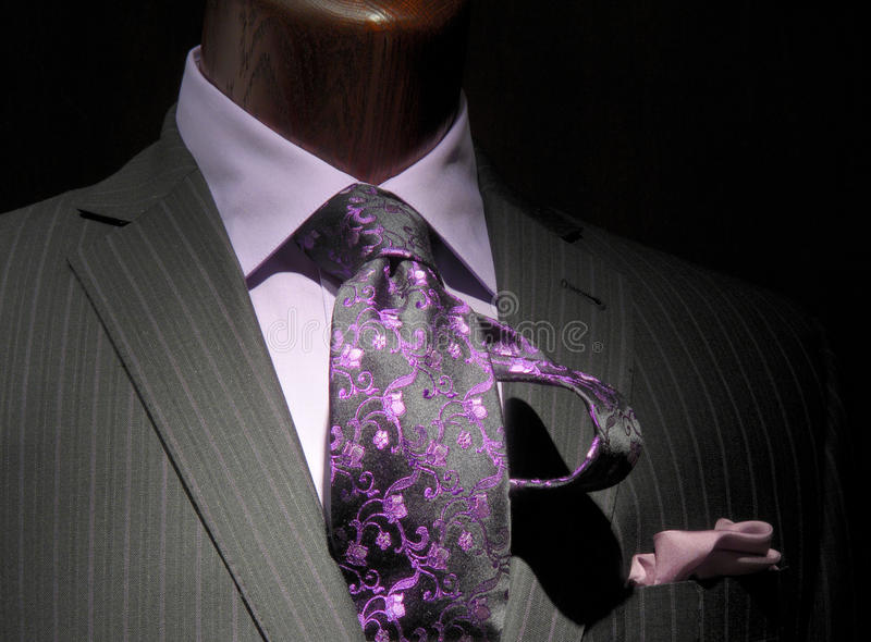 Download Striped Jacket With Purple Shirt & Tie Stock Photo - Image: 12625718