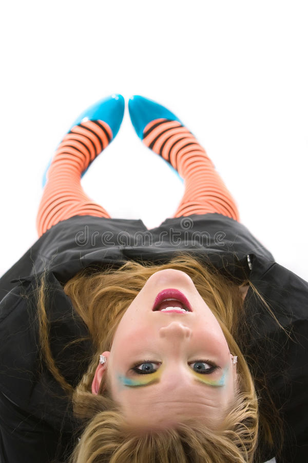 Download Striped leggings stock photo. Image of shoes, legs, orange - 16296608