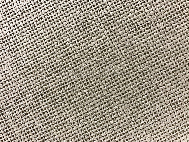 Striped linen предпосылка текстуры мешка в коричневом цвете стоковые фотографии rf