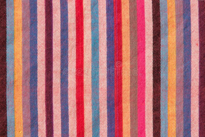 Striped loincloth fabric background royalty free stock photography