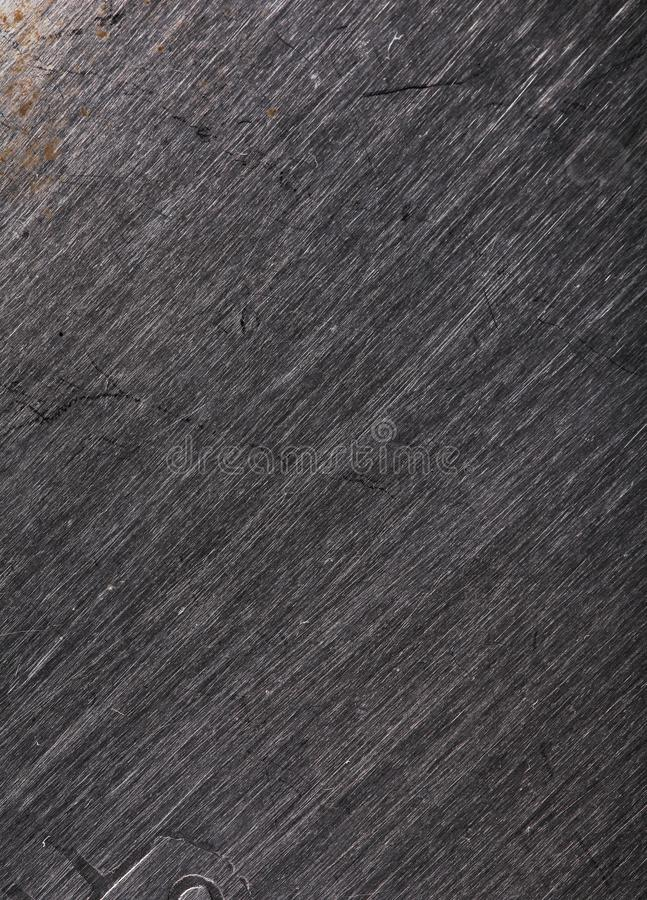 Striped metallic texture with scratches of different depths.  royalty free stock images
