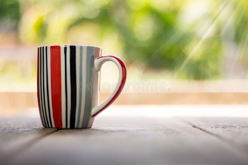 Striped mug stock images