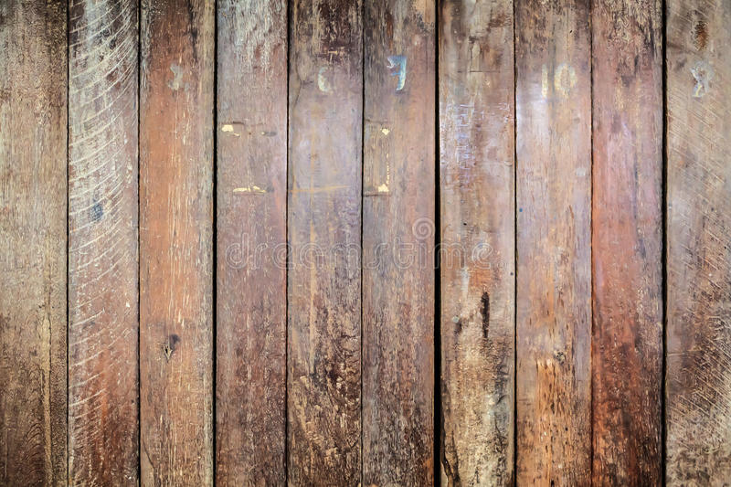 Striped pattern brown plank wood wal royalty free stock images