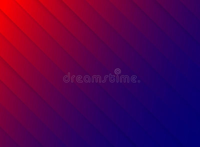 Striped pattern diagonal paper cut red and blue contrast color b vector illustration