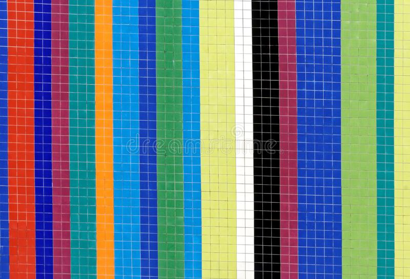 Striped Pattern made from Wall Tiles stock photography
