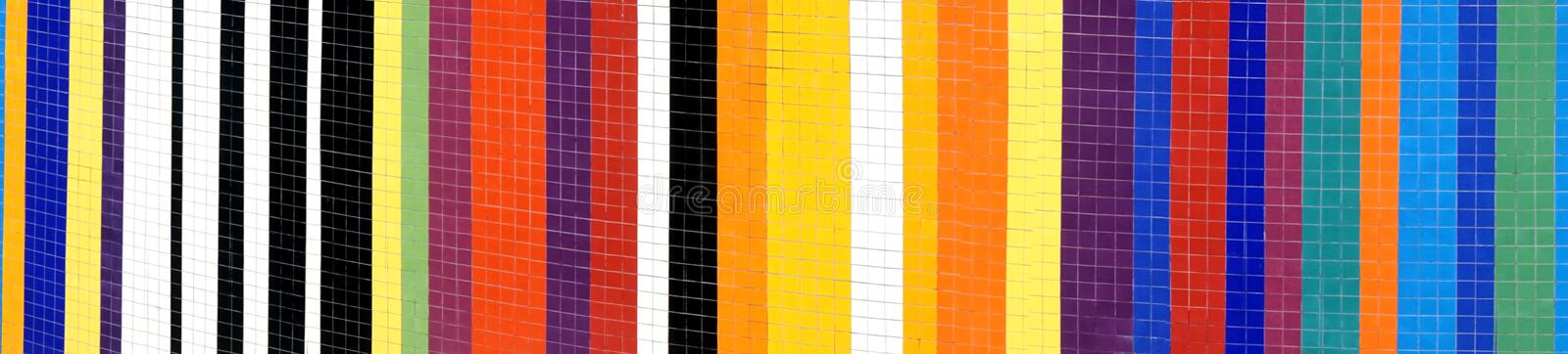 Striped Pattern made from Wall Tiles stock photos