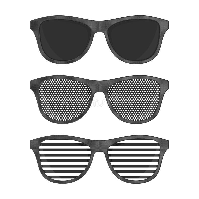 Striped perforation sunglasses. royalty free illustration