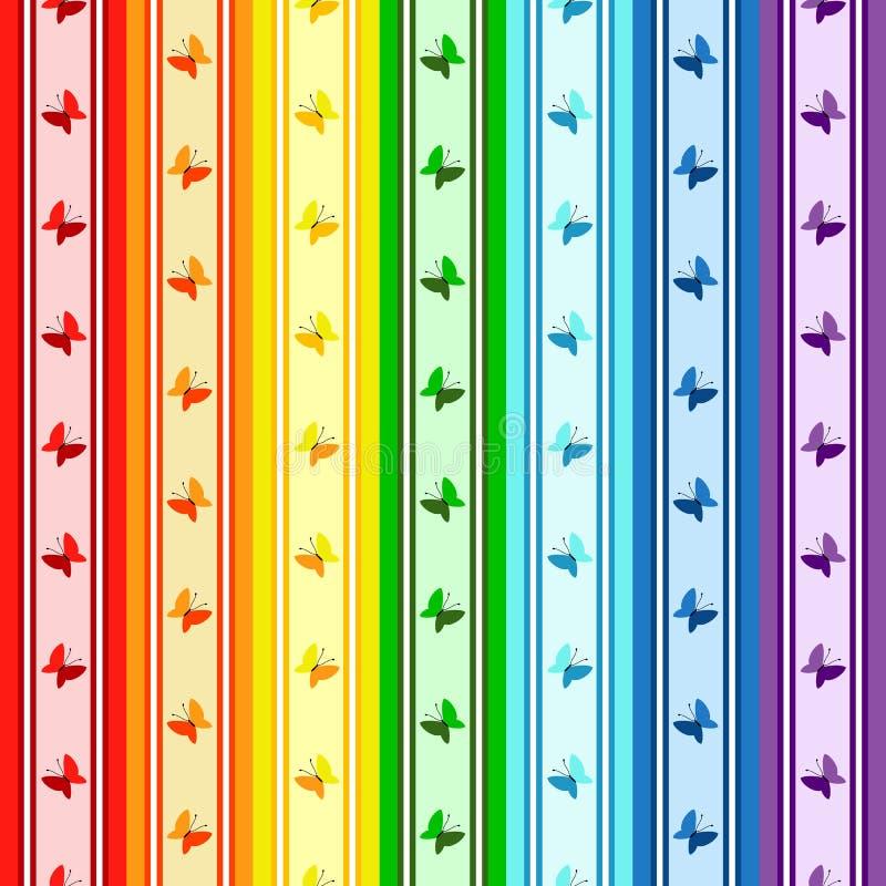 Striped rainbow pattern stock photography