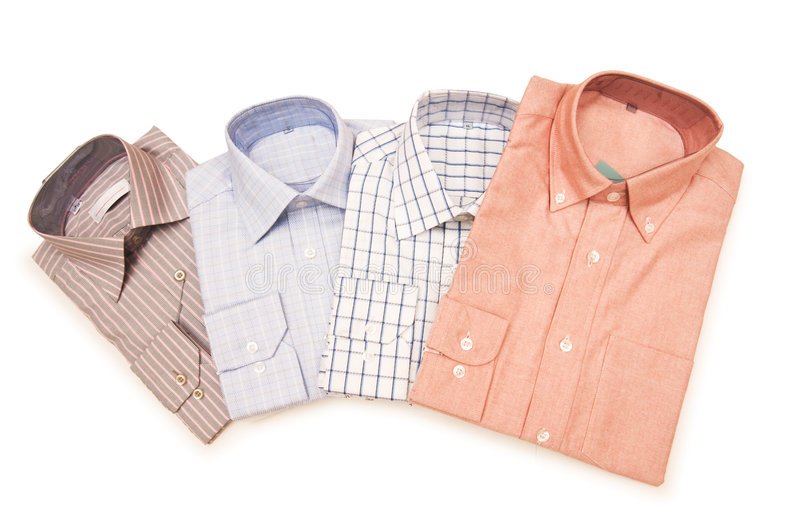 Striped shirts isolated