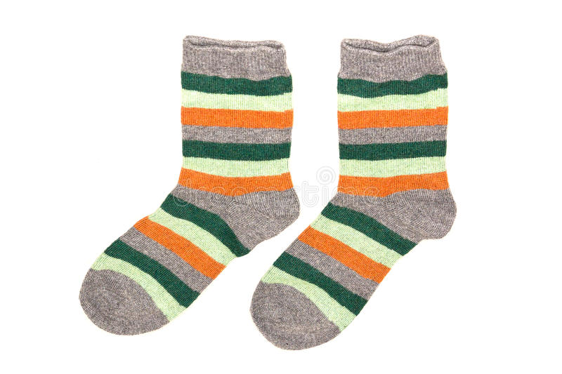 Download Striped Socks On A White Background Stock Photo - Image: 83721479