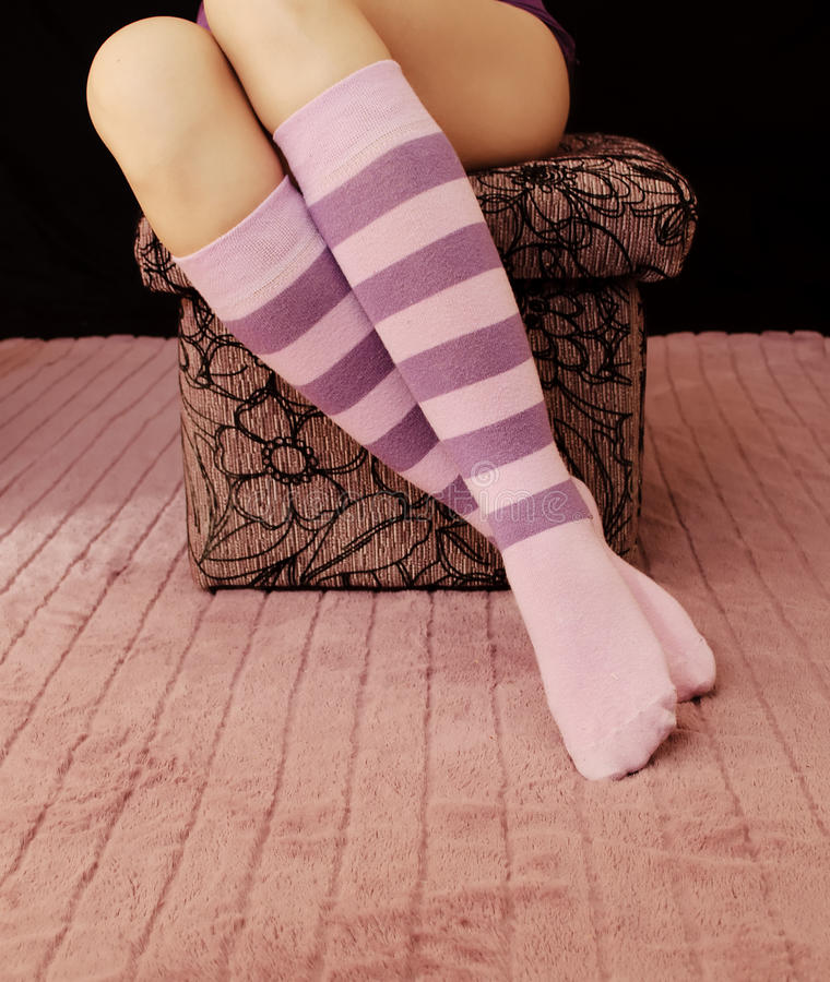 Download Striped socks stock image. Image of space, knee, armchair - 34508423