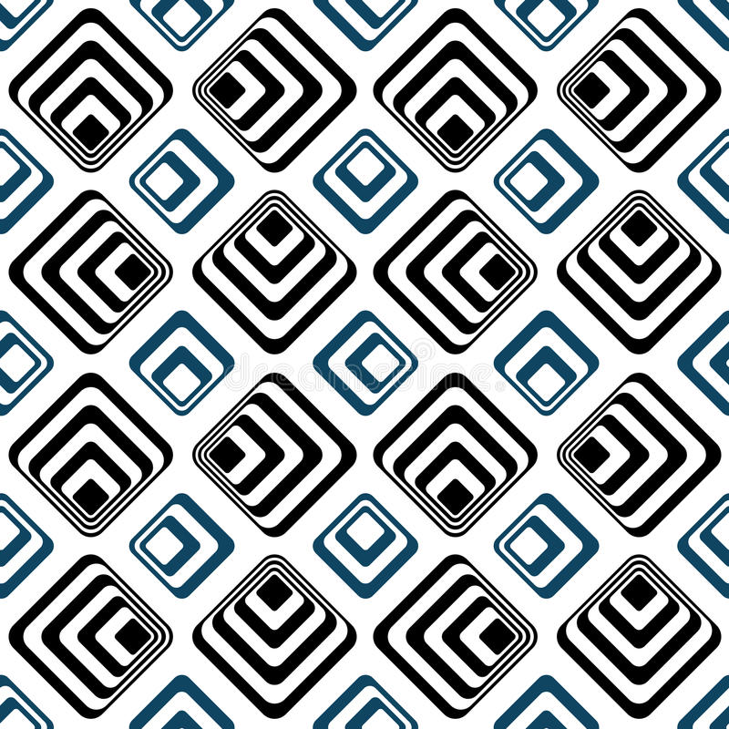 Striped squares seamless backgound pattern royalty free illustration