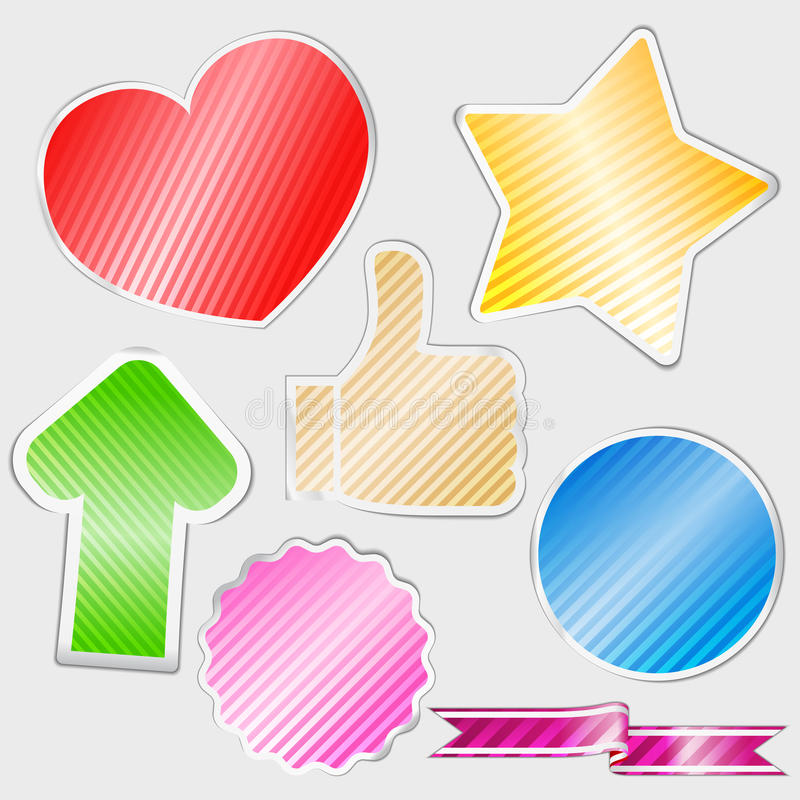Download Striped stickers stock vector. Image of color, design - 23460473