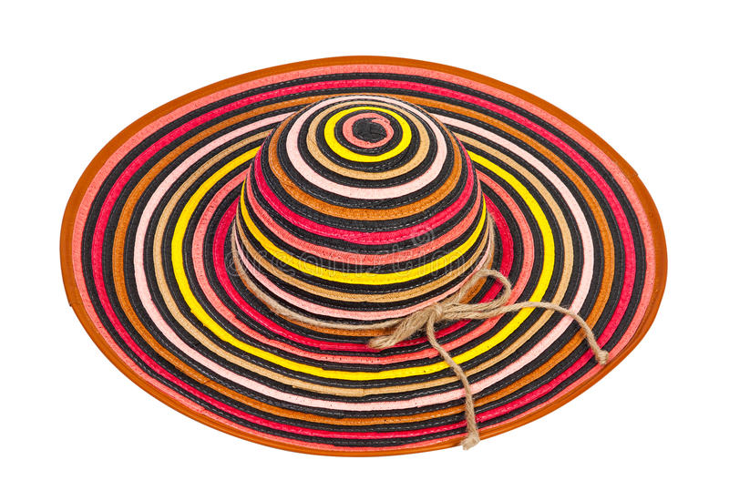 Striped Sun Hat Stock Photography