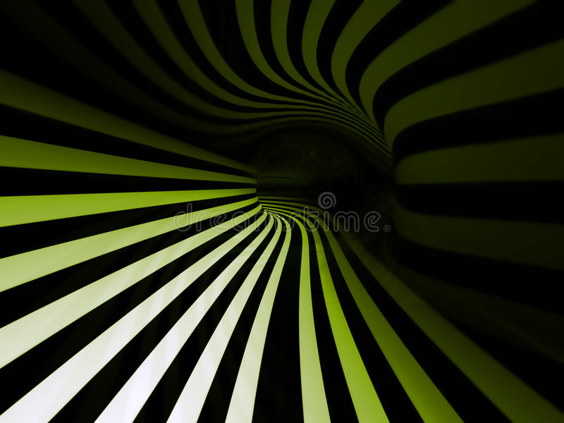 Striped swirl vector illustration