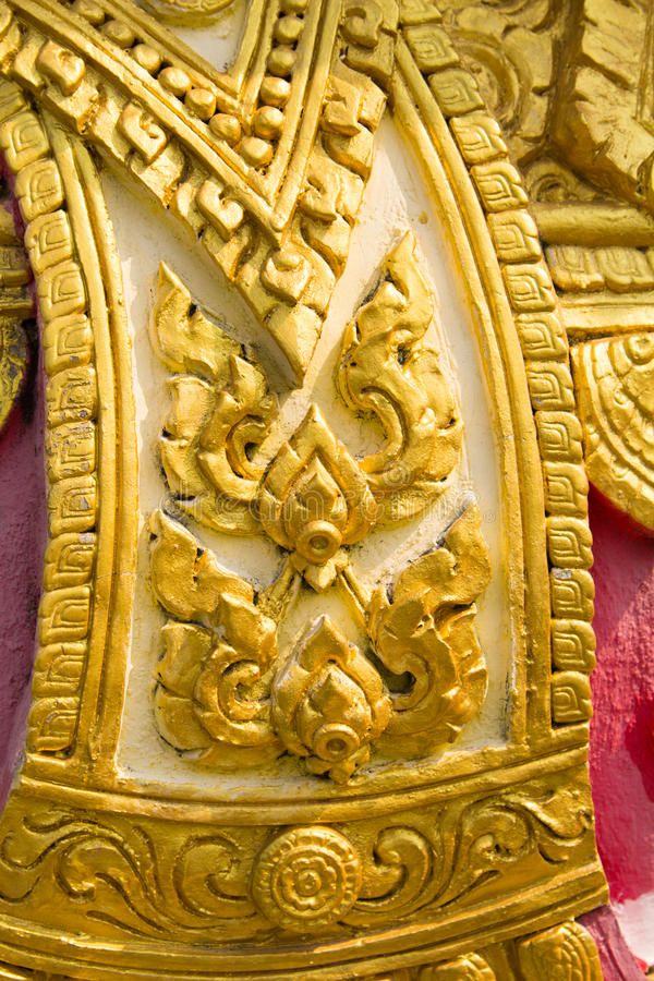 striped Thailand, detail of Thai style in Buddha temple, Thailand stock images