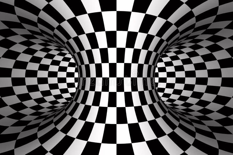 Striped tourus hole. 3d illustration stock illustration