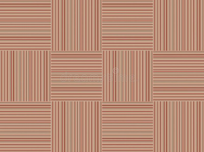 Striped veneer pattern texture wooden square intertwined background, brown base. Striped veneer pattern texture wooden square intertwined background, light brown stock illustration