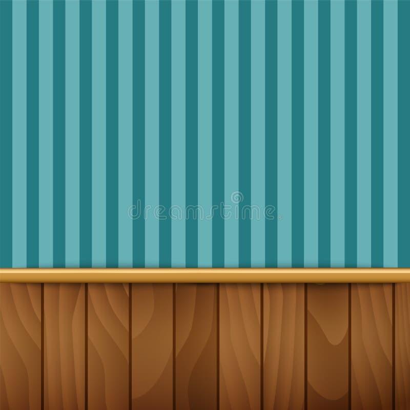 Dark Wood Paneling Stock Illustration. Illustration Of