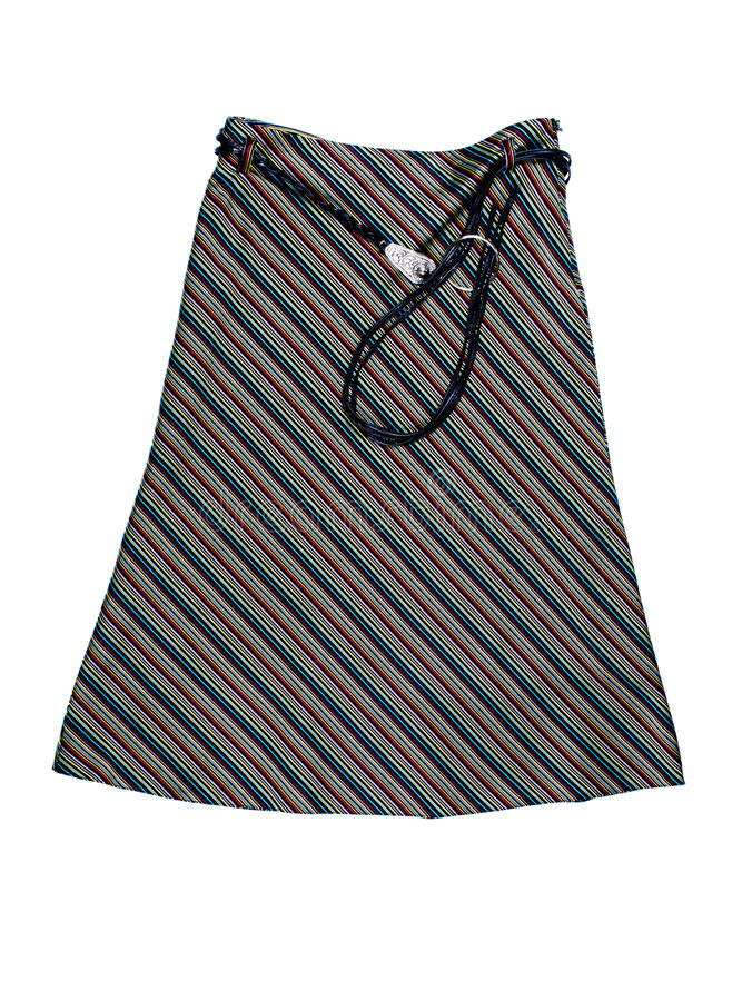 Striped Womens skirt with thong