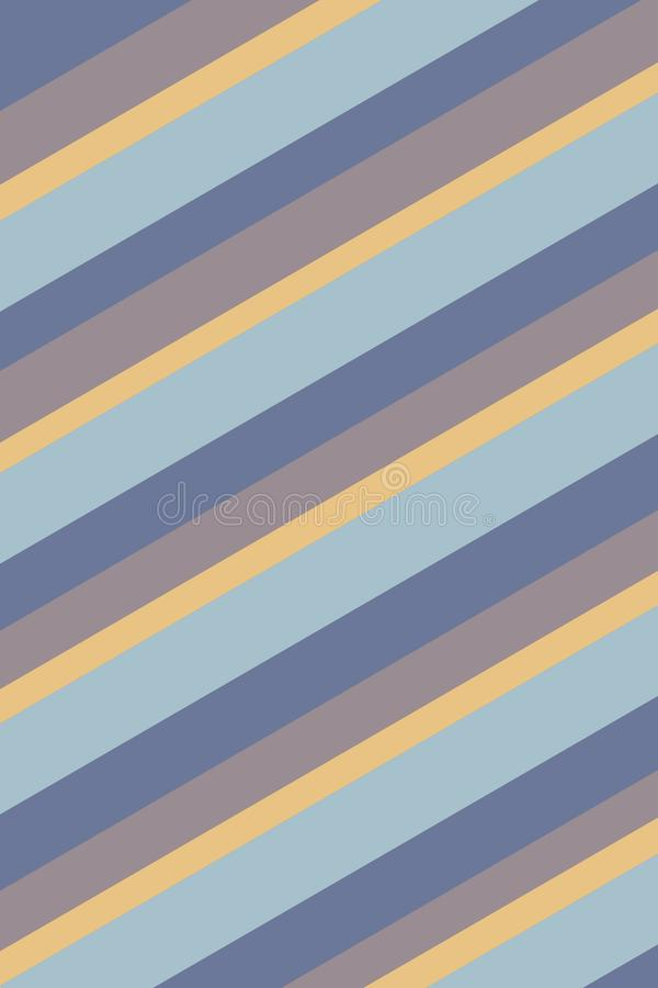 Striped Yellow Blue Background Texture. Yellow, blue, and taupe stripes create a beach feel in this diagonally striped background vector illustration