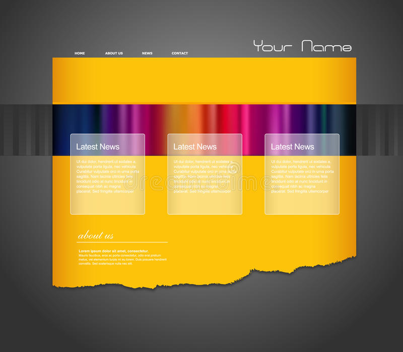 stripes вебсайт шаблона бесплатная иллюстрация