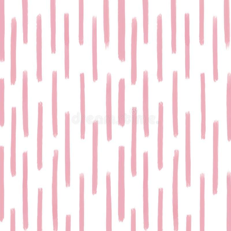 Stripes цифровая бумага, розовая предпосылка, текстура нашивок иллюстрация вектора