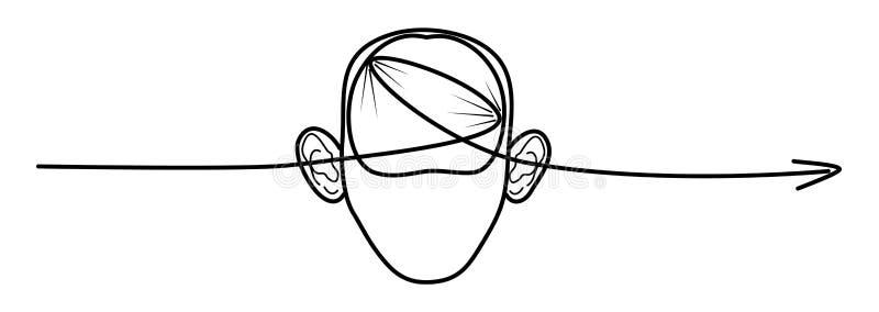 Невнимательный студент r иллюстрация вектора