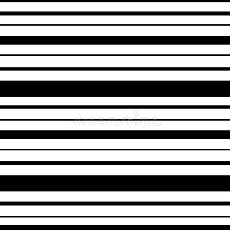 Stripes of black color of different widths on a white background. Seamless pattern stripes of black color of different widths on a white background vector illustration