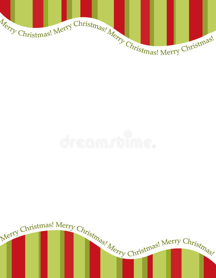 Stripes Christmas Frame Royalty Free Stock Photo