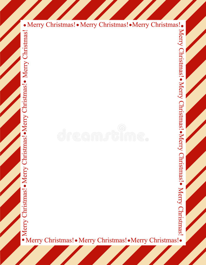 Stripes christmas frame royalty free stock image