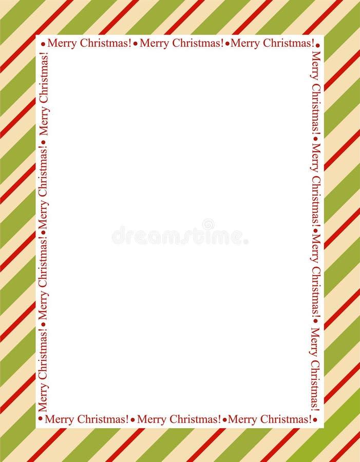 Stripes christmas frame stock photography